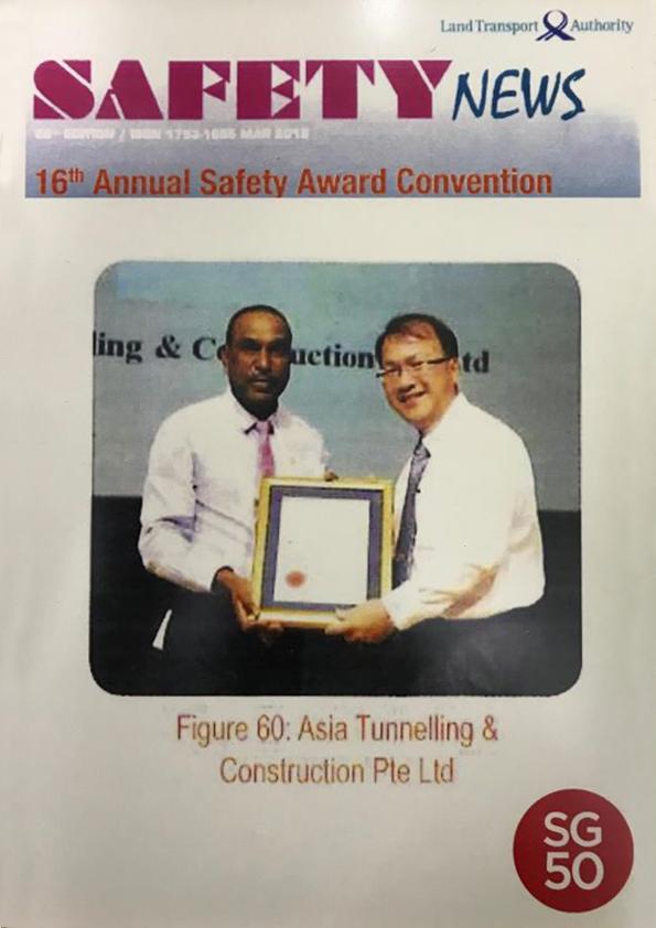Safety Award from LTA