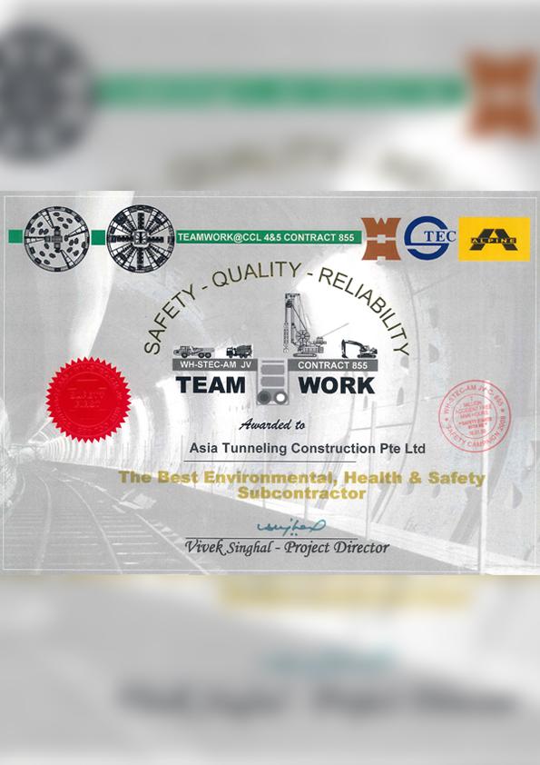 Team Work Award from C855