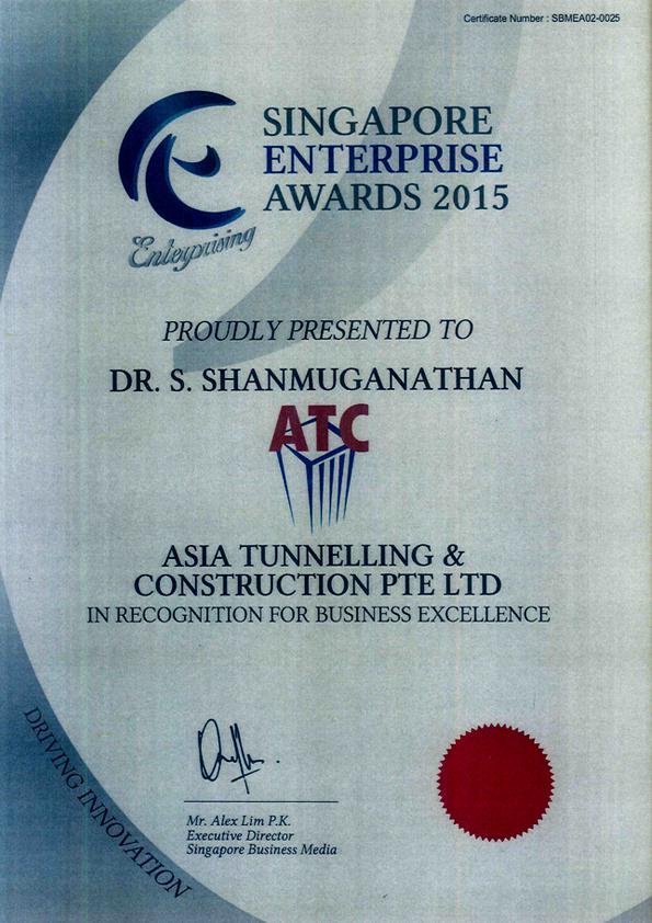 Singapore Enterprise Award 2015