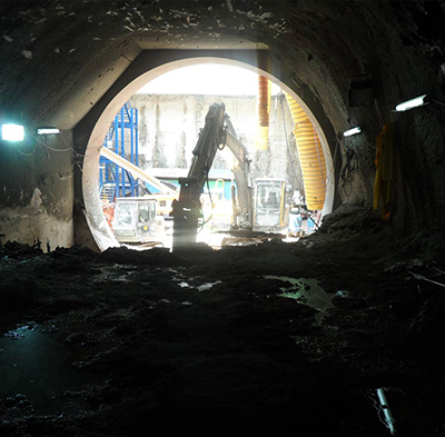 Mine Tunnel construction