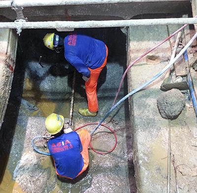 Pump Sump construction